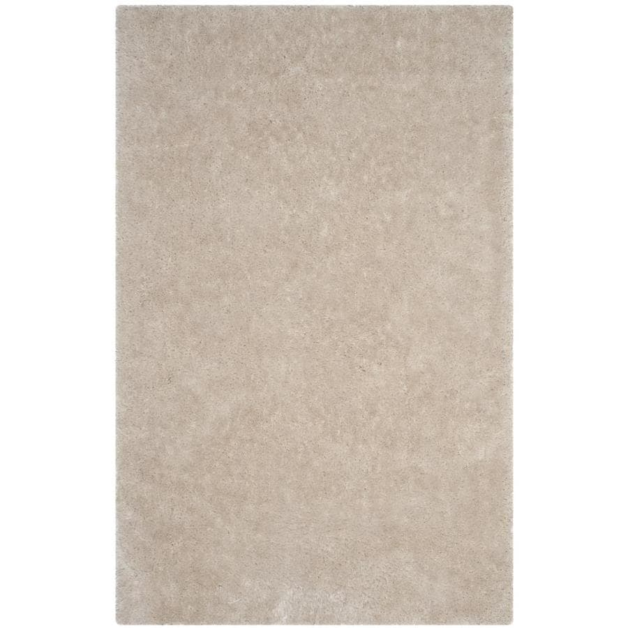 Safavieh Luxe Shag Bone Handcrafted Area Rug (Common: 9 x 12; Actual: 9-ft W x 12-ft L)