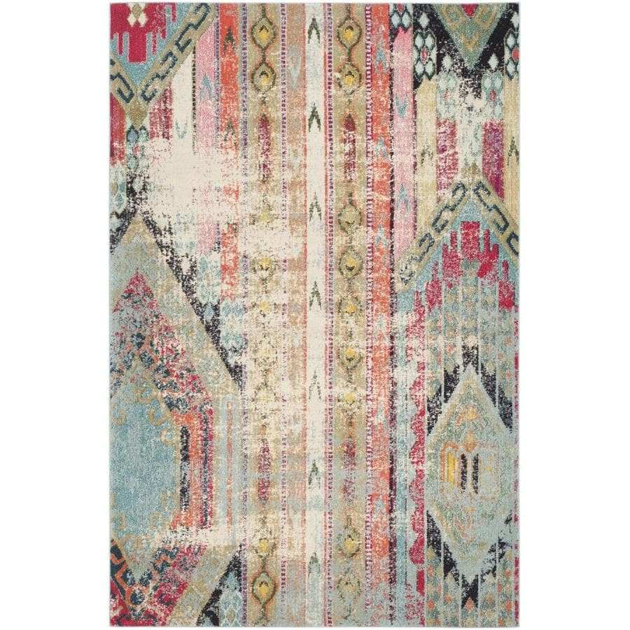 Safavieh Monaco Kolby Multi Rectangular Indoor Machine-Made Distressed Area Rug (Common: 8 x 10; Actual: 8-ft W x 10-ft L)