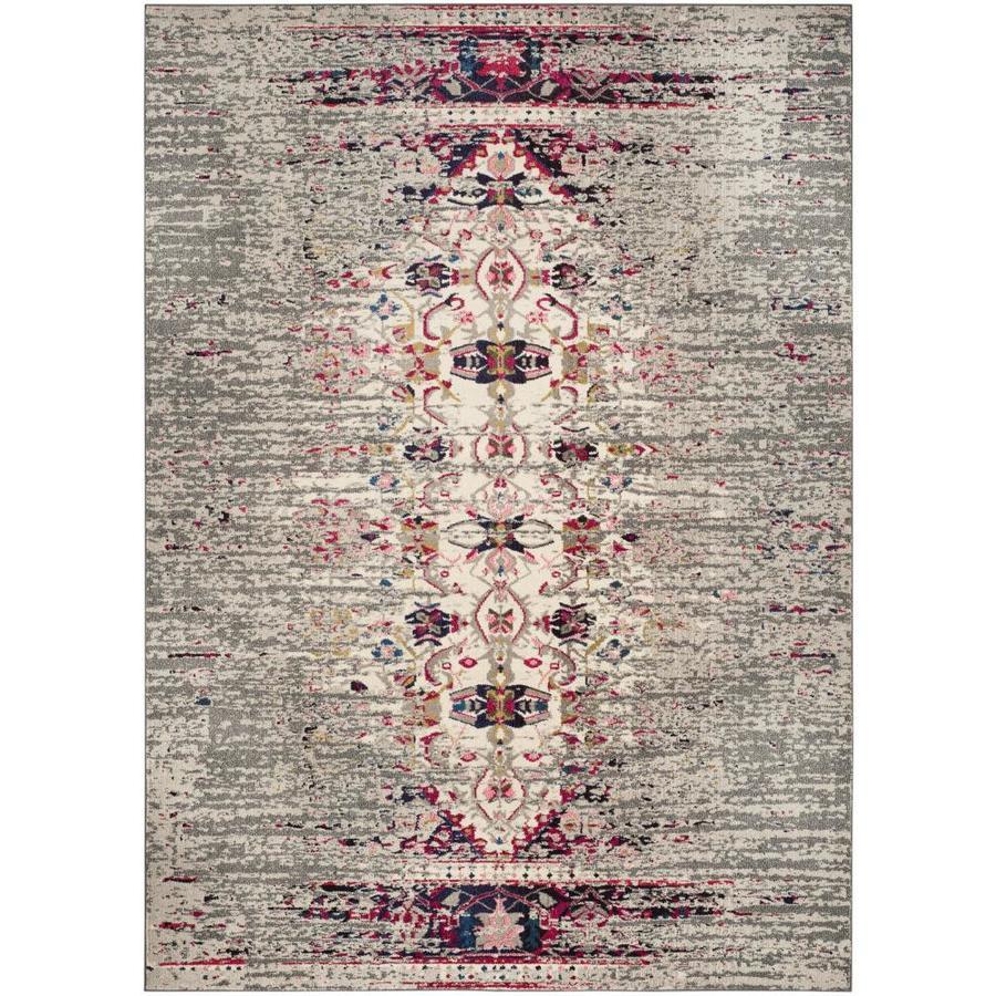 Safavieh Monaco Kimberly Gray/Ivory Indoor Distressed Area Rug (Common: 8 x 10; Actual: 8-ft W x 10-ft L)