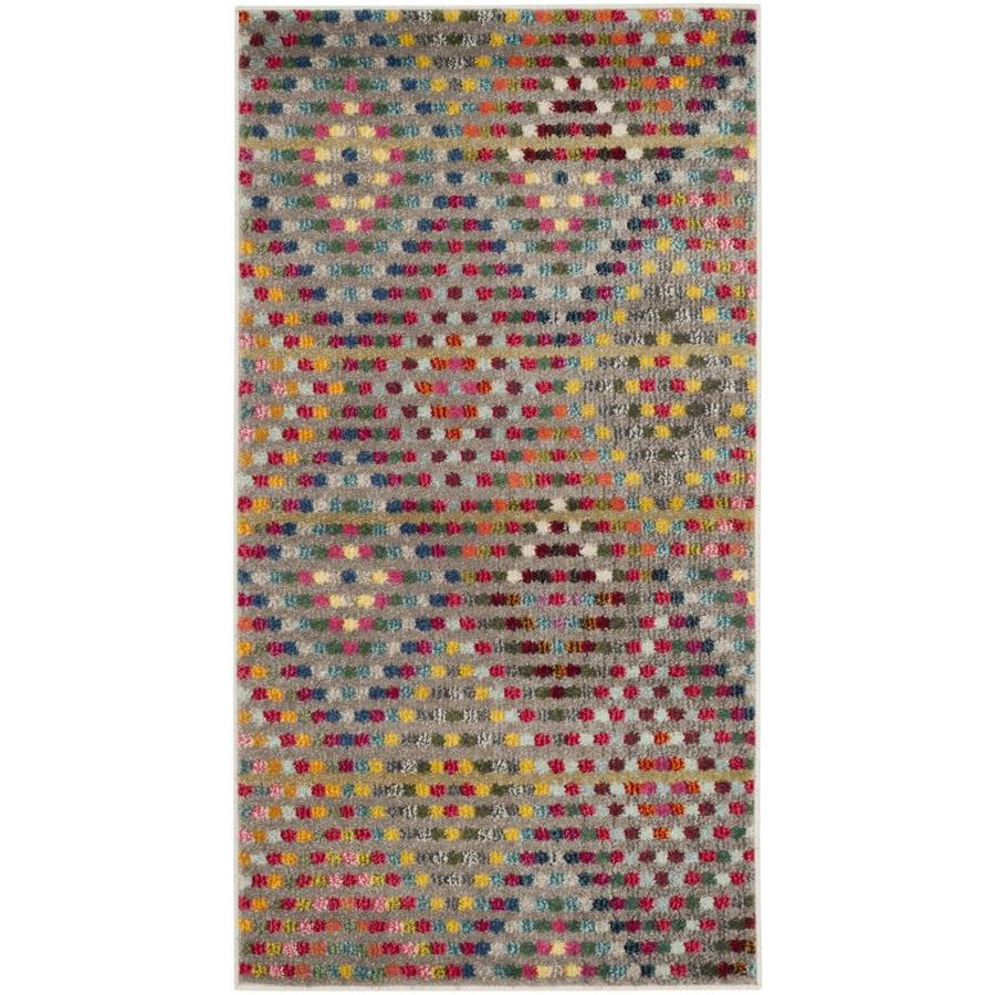 Safavieh Monaco Quilt Multi/Beige Rectangular Indoor Machine-Made Kids Throw Rug (Common: 2 x 4; Actual: 2.2-ft W x 4-ft L)