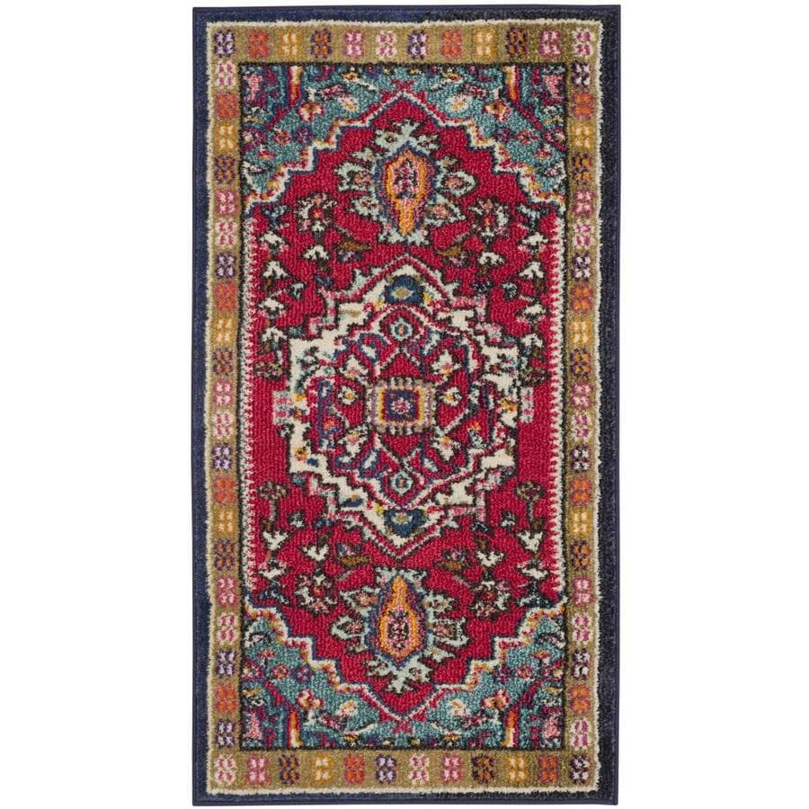 Safavieh Monaco Heritage Multi/Beige Indoor Oriental Throw Rug (Common: 2 x 4; Actual: 2.2-ft W x 4-ft L)