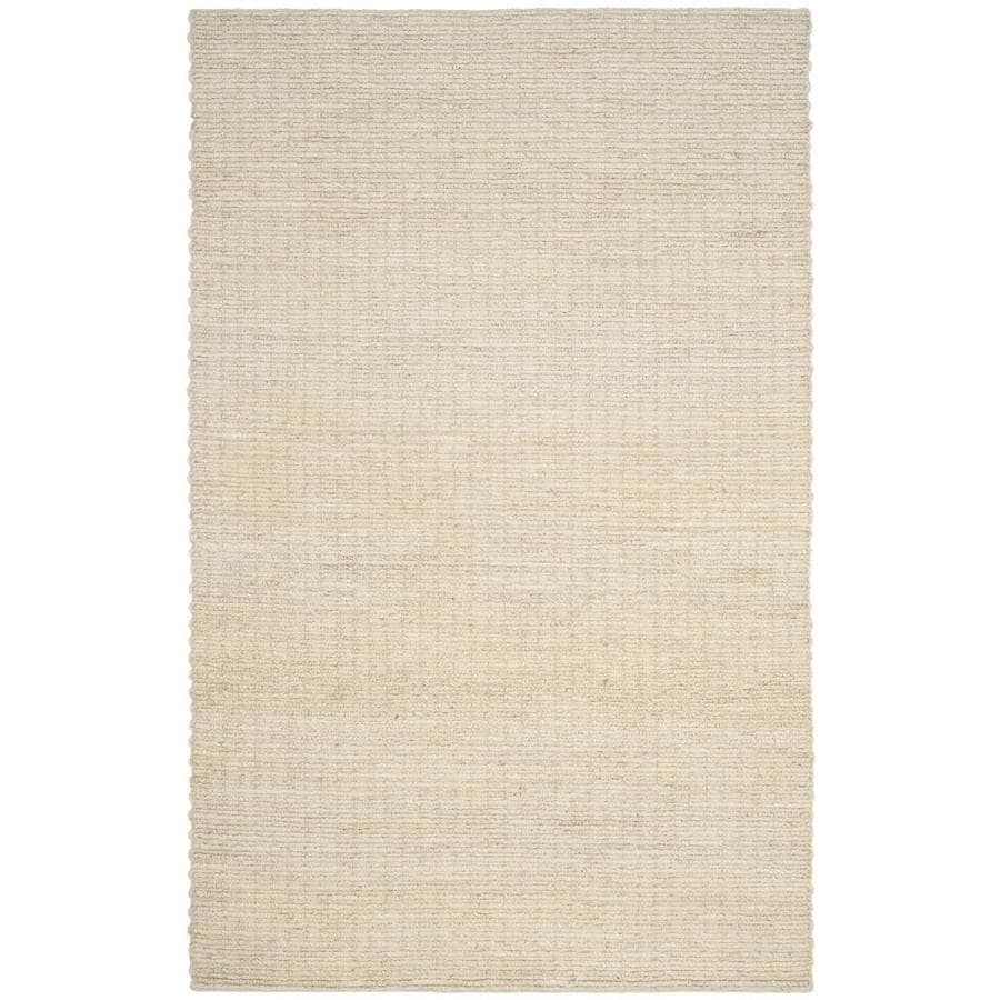 Safavieh Natural Fiber Redonda Ivory Indoor Handcrafted Coastal Area Rug (Common: 5 x 8; Actual: 5-ft W x 8-ft L)