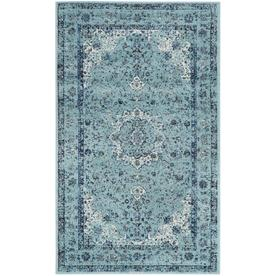 Safavieh Evoke Savoy Light Blue Indoor Oriental Throw Rug Common 2