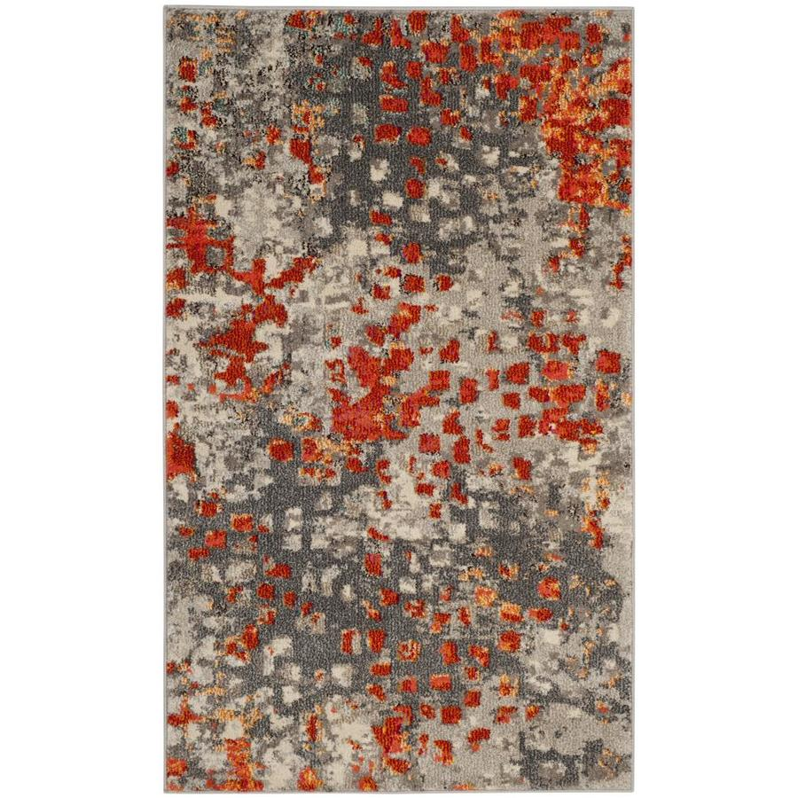 Shop Safavieh Monaco Gogh Gray Orange Indoor Throw Rug