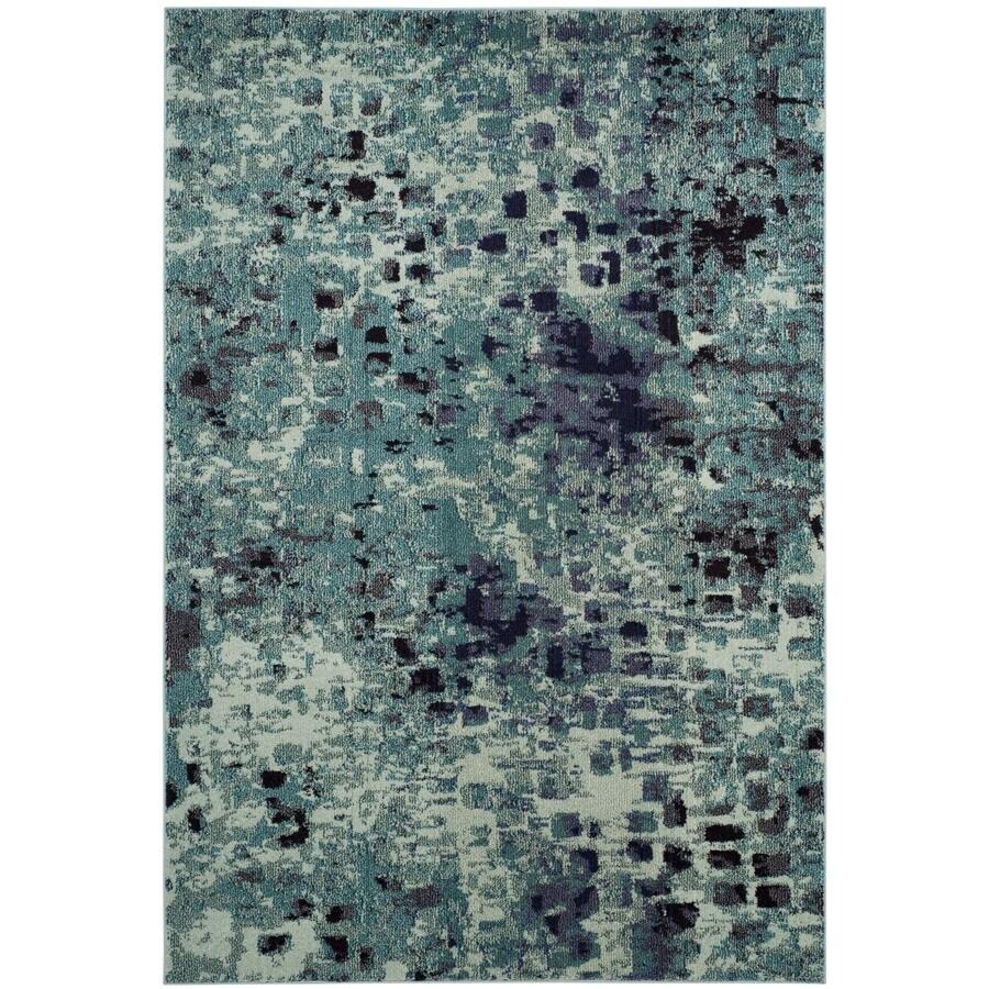 Safavieh Monaco Gogh Teal Indoor Area Rug (Common: 4 x 6; Actual: 4-ft W x 5.6-ft L)