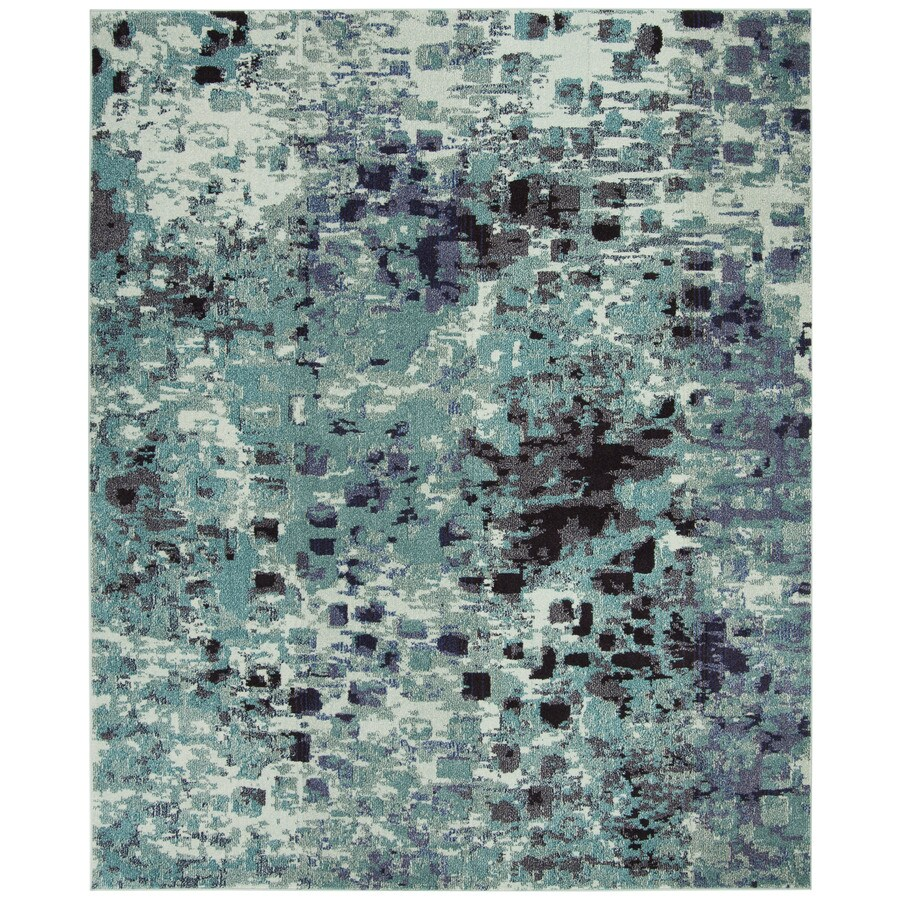 Safavieh Monaco Gogh Teal Rectangular Indoor Machine-made Area Rug (Common: 8 x 11; Actual: 8-ft W x 11-ft L)