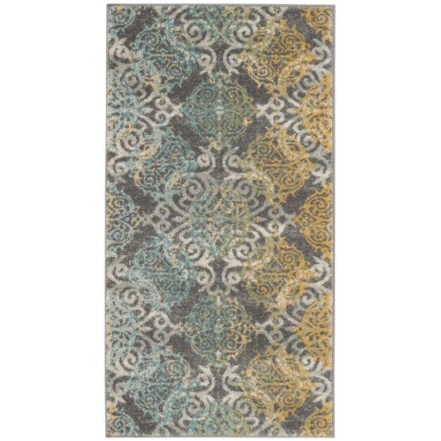 Safavieh Evoke Rigby Gray/Multi Rectangular Indoor Machine-Made Oriental Throw Rug (Common: 2 x 4; Actual: 2.2-ft W x 4-ft L)