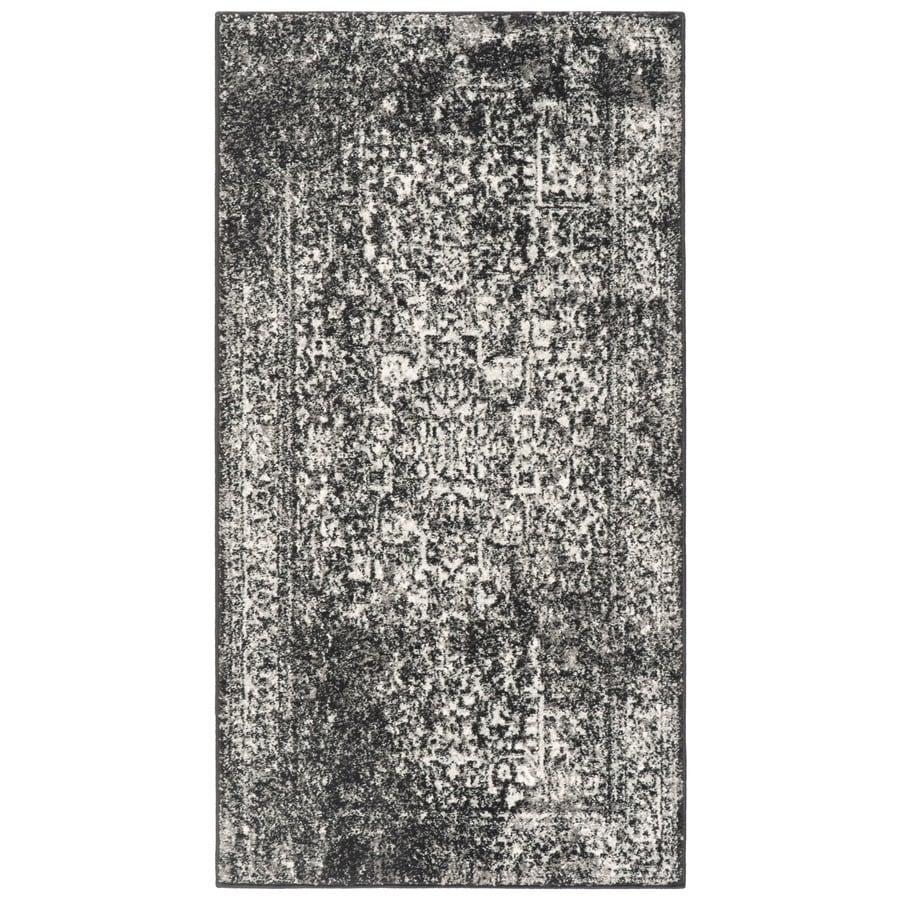 Safavieh Evoke Isla Black/Gray Rectangular Indoor Machine-Made Oriental Throw Rug (Common: 2 x 4; Actual: 2.2-ft W x 4-ft L)