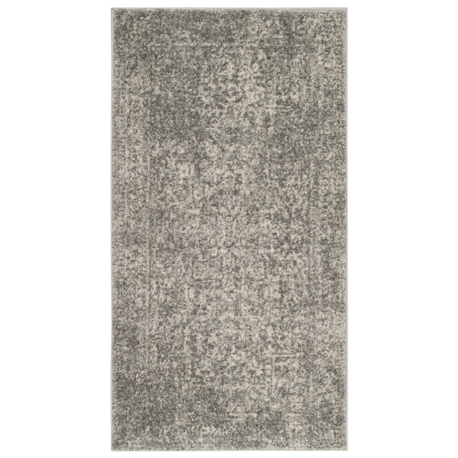 Safavieh Evoke Isla Silver/Ivory Rectangular Indoor Machine-Made Oriental Throw Rug (Common: 2 x 4; Actual: 2.2-ft W x 4-ft L)