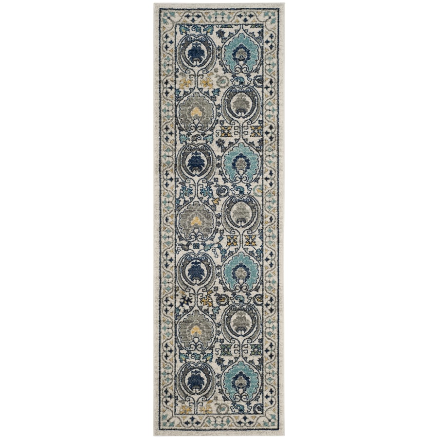 Safavieh Evoke Malaga Ivory/Gray Rectangular Indoor Machine-Made Oriental Runner (Common: 2 x 7; Actual: 2.2-ft W x 7-ft L)