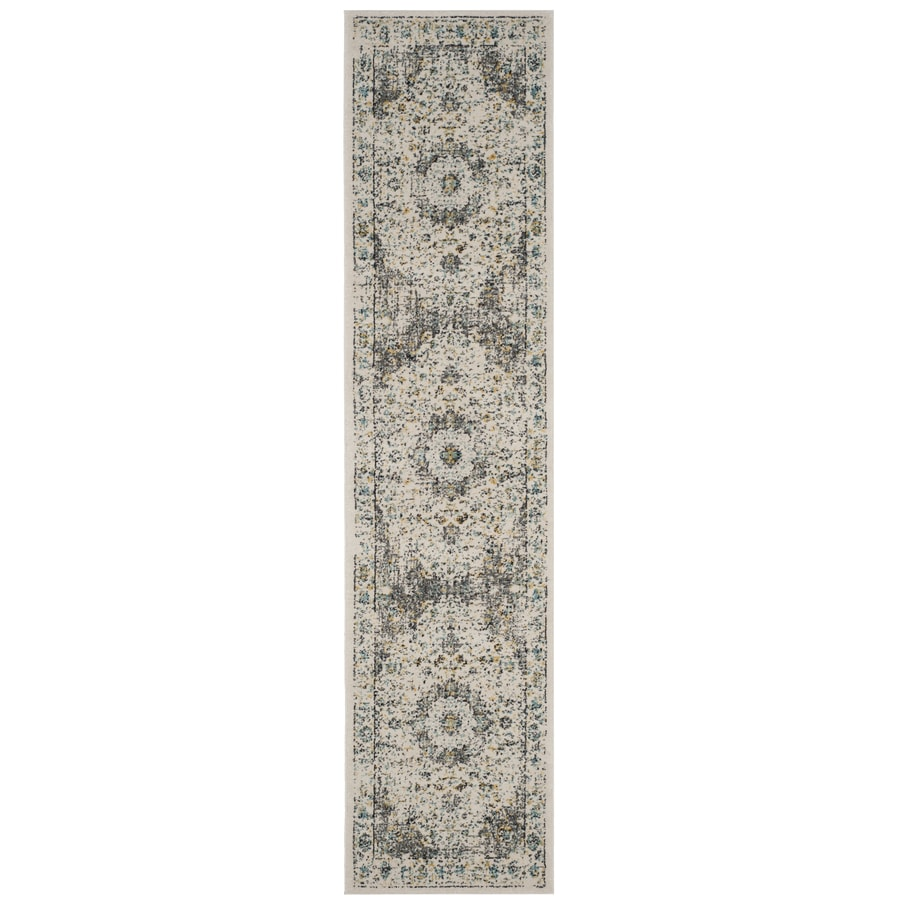 Safavieh Evoke Savoy Gray/Gold Rectangular Indoor Machine-Made Oriental Runner (Common: 2 x 11; Actual: 2.2-ft W x 11-ft L)