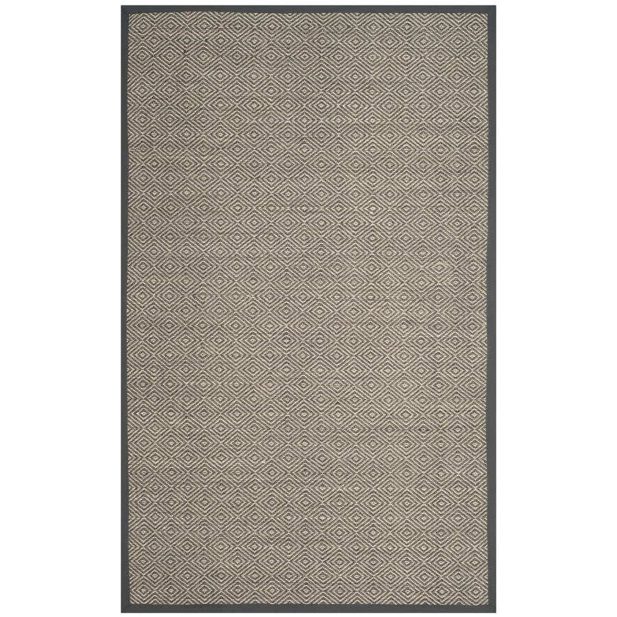 Safavieh Natural Fiber Bayberry Natural/Dark Gray Indoor Coastal Area Rug (Common: 5 x 8; Actual: 5-ft W x 8-ft L)