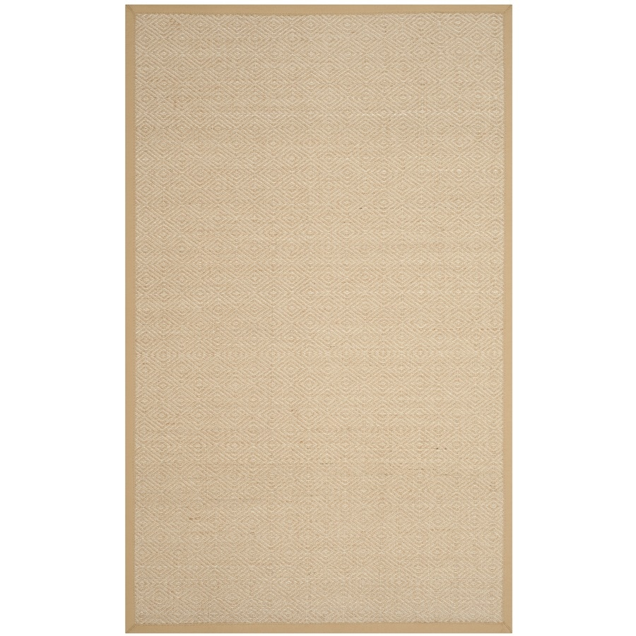 Safavieh Natural Fiber Bayberry Natural/Beige Indoor Coastal Area Rug (Common: 6 x 9; Actual: 6-ft W x 9-ft L)