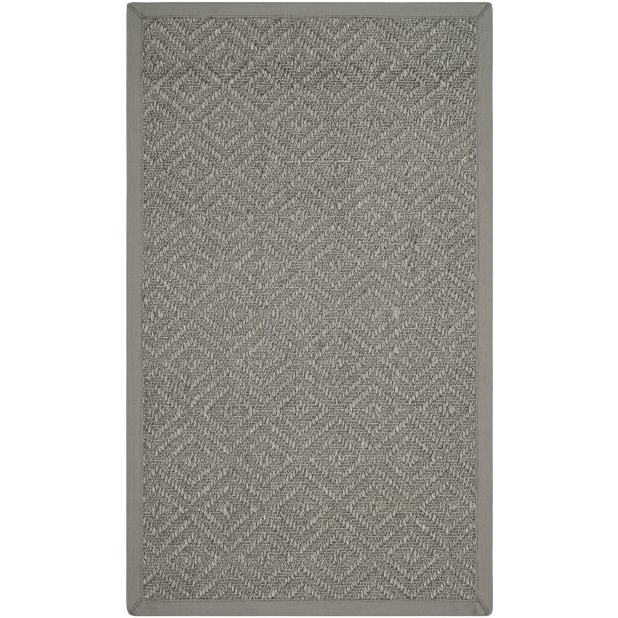 Safavieh Natural Fiber Fair Harbor Light Gray/Gray Indoor Coastal Area Rug (Common: 4 x 6; Actual: 4-ft W x 6-ft L)