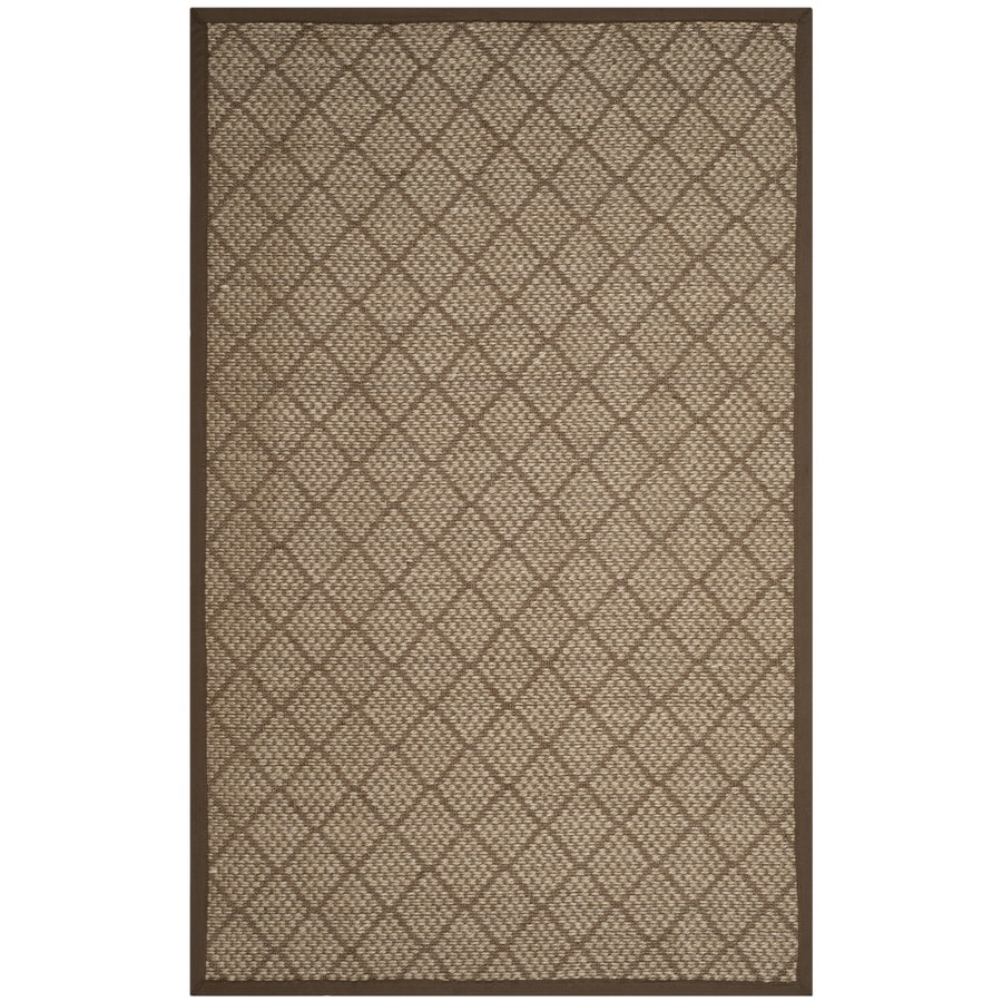 Safavieh Natural Fiber Quogue Natural/Brown Indoor Coastal Area Rug (Common: 6 x 9; Actual: 6-ft W x 9-ft L)