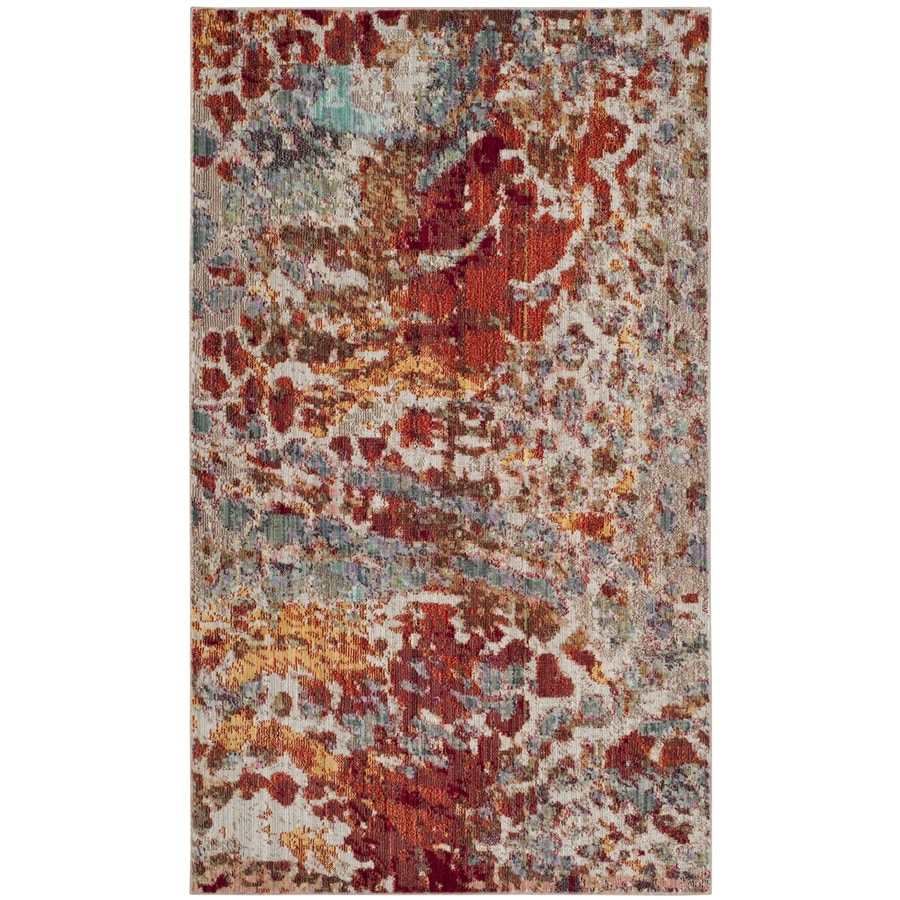 Safavieh Valencia Etra Indoor Distressed Throw Rug (Common: 3 x 5; Actual: 3-ft W x 5-ft L)