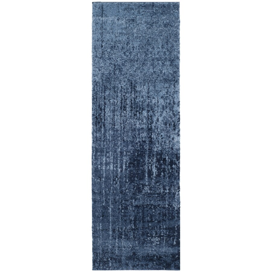 Safavieh Retro Elan Light Blue/Blue 2-ft 3-in x 11-ft