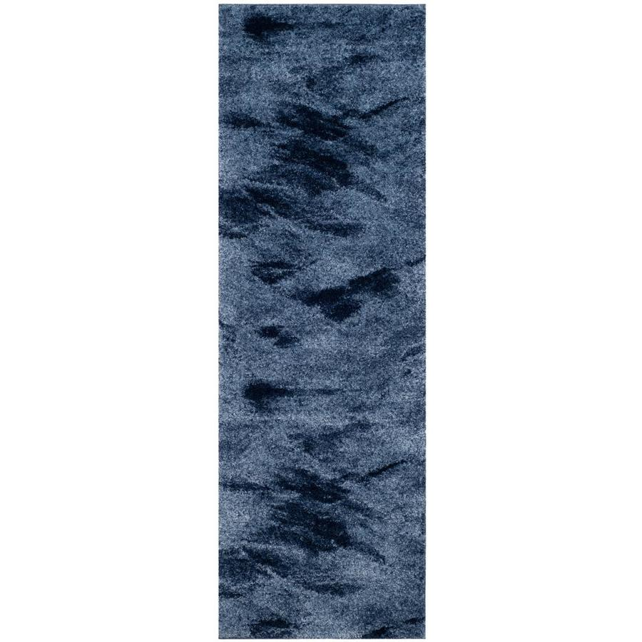 Safavieh Retro Azusa Light Blue/Blue 2-ft 3-in x 11-ft