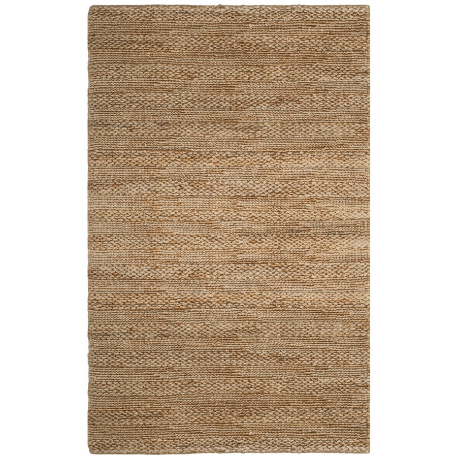 Safavieh Natural Fiber Wainscott Natural Indoor Handcrafted Coastal Area Rug (Common: 5 x 8; Actual: 5-ft W x 8-ft L)