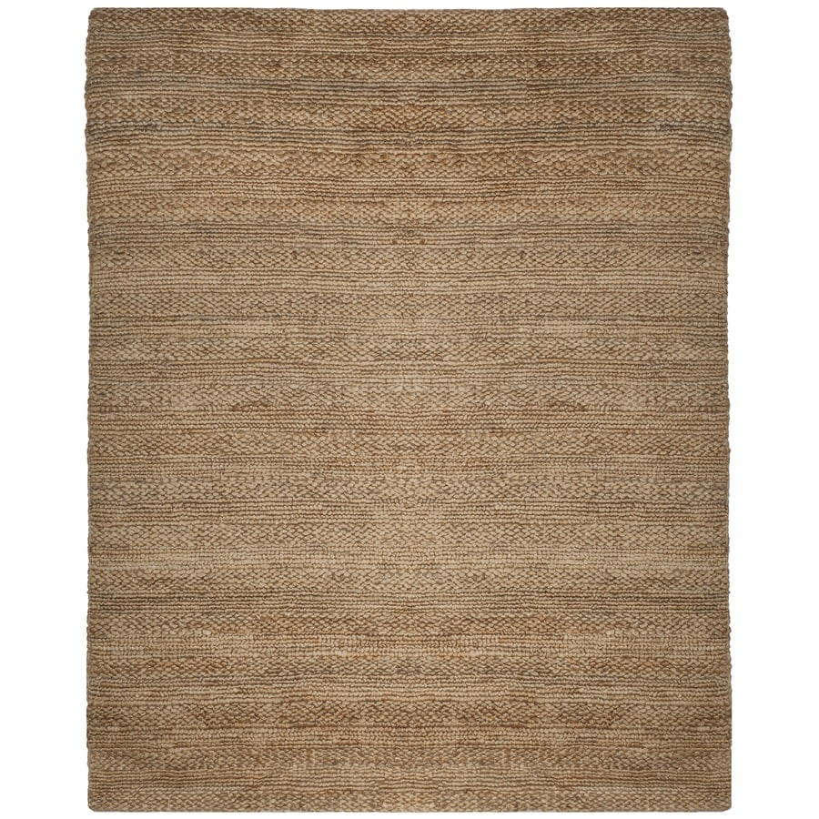 Safavieh Natural Fiber Wainscott Natural Indoor Handcrafted Coastal Area Rug (Common: 8 x 10; Actual: 8-ft W x 10-ft L)
