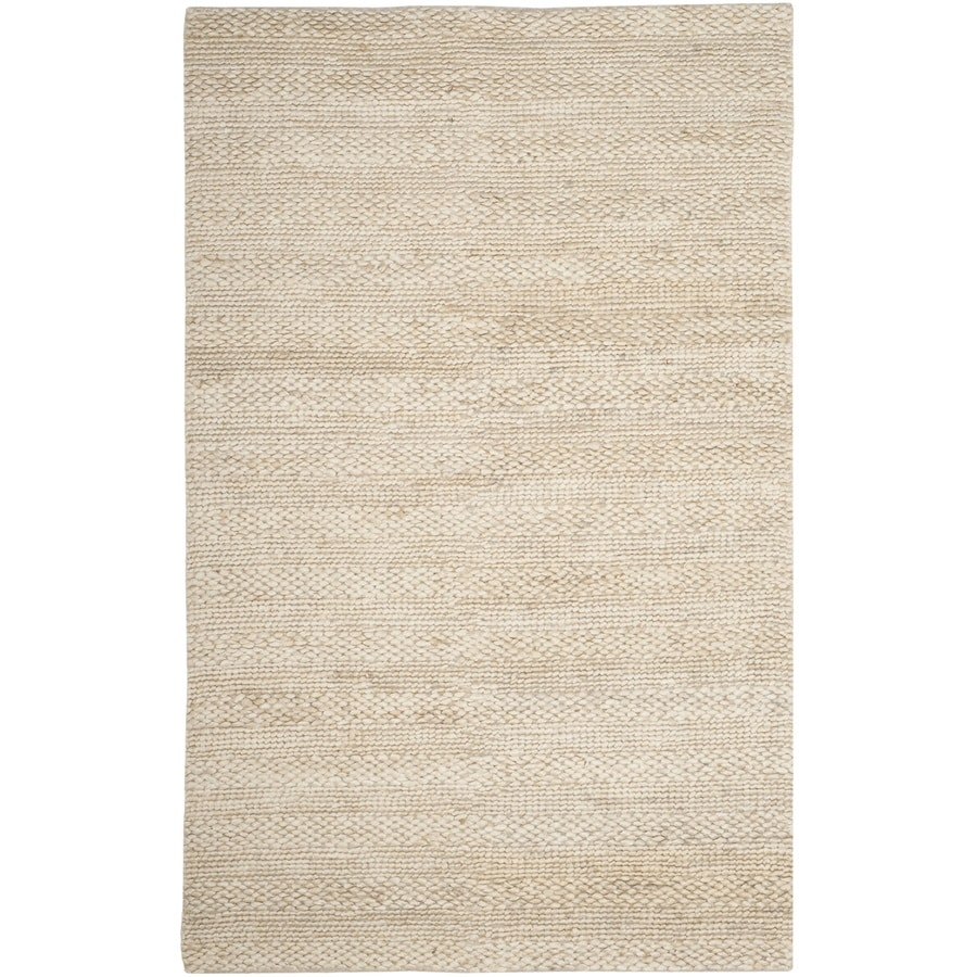 Safavieh Natural Fiber Wainscott Bleach Indoor Handcrafted Coastal Area Rug (Common: 5 x 8; Actual: 5-ft W x 8-ft L)