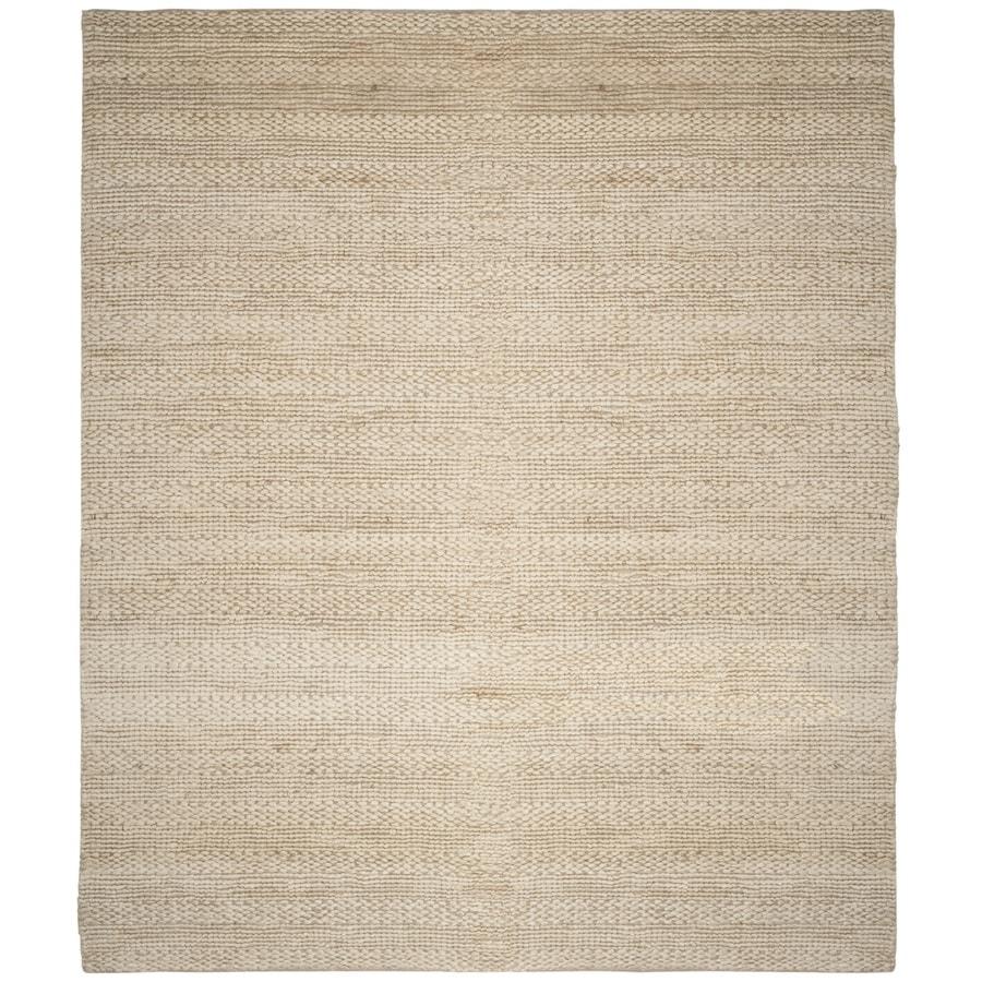 Safavieh Natural Fiber Wainscott Bleach Indoor Handcrafted Coastal Area Rug (Common: 6 x 9; Actual: 6-ft W x 9-ft L)