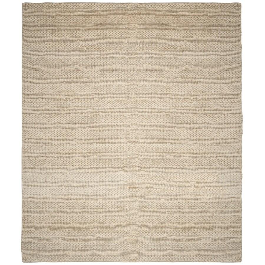 Safavieh Natural Fiber Wainscott Bleach Rectangular Indoor Handcrafted Coastal Area Rug (Common: 8 x 10; Actual: 8-ft W x 10-ft L)