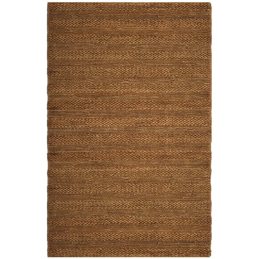 Safavieh Natural Fiber Wainscott Gold Indoor Handcrafted Coastal Area Rug (Common: 5 x 8; Actual: 5-ft W x 8-ft L)