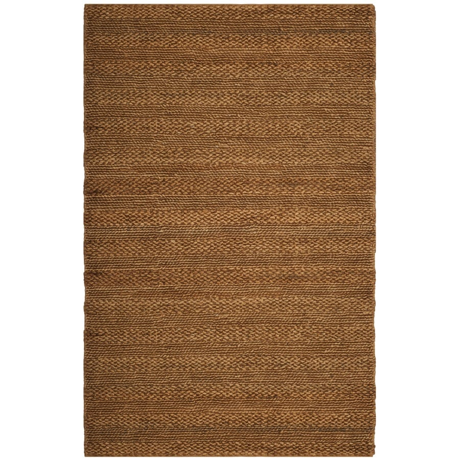 Safavieh Natural Fiber Wainscott Gold Indoor Handcrafted Coastal Area Rug (Common: 6 x 9; Actual: 6-ft W x 9-ft L)