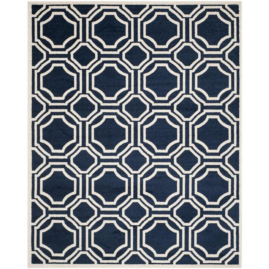 Safavieh Mosaic Navy Ivory Indoor Outdoor Area Rug Common