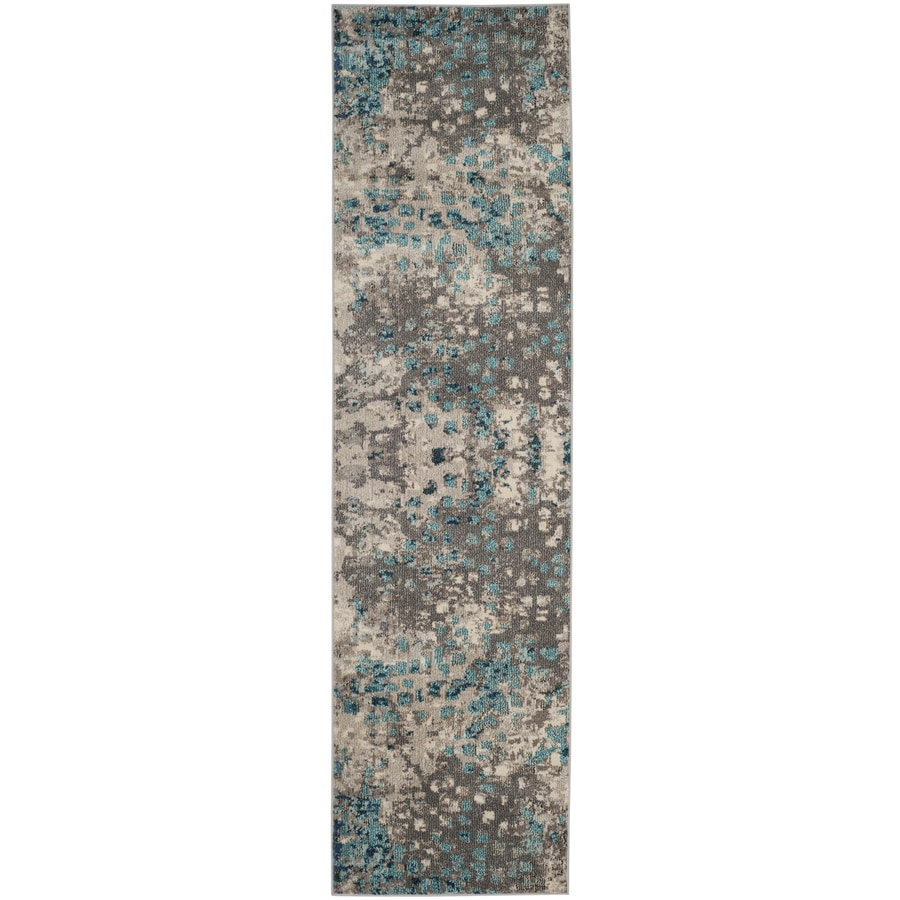 Safavieh Monaco Gogh Gray/Light Blue Indoor Runner (Common: 2 x 10; Actual: 2.2-ft W x 10-ft L)