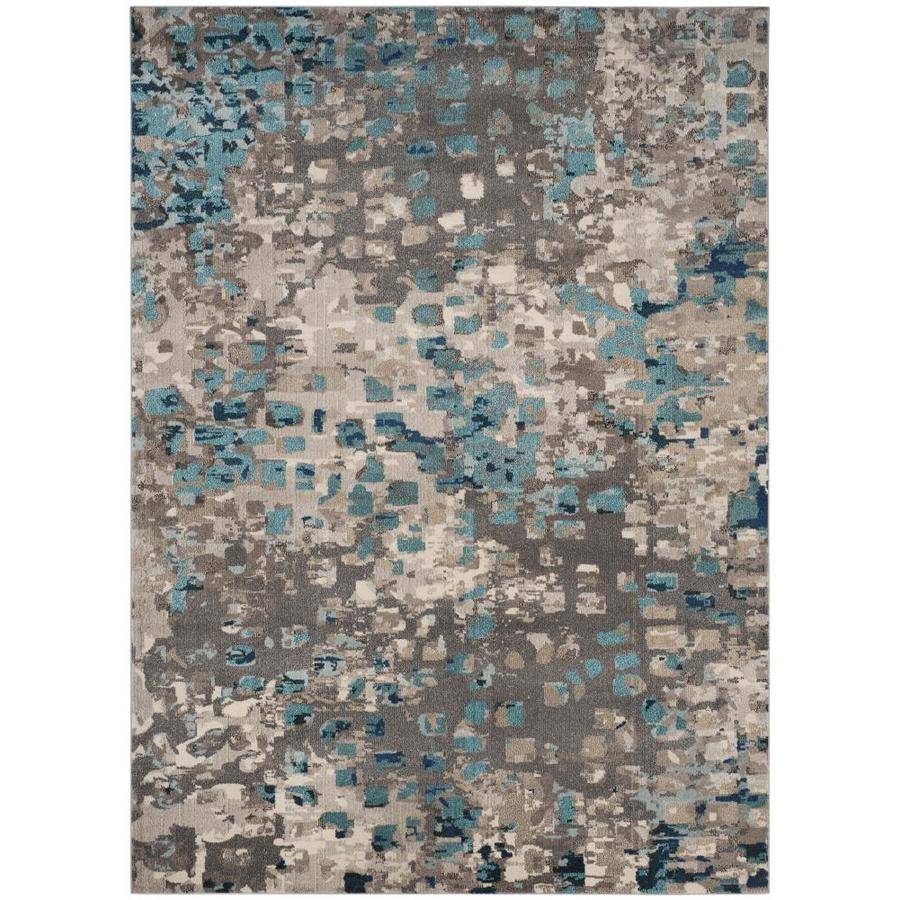 Blue Outdoor Rug 9x12: Shop Safavieh Monaco Gogh Gray/Light Blue Indoor