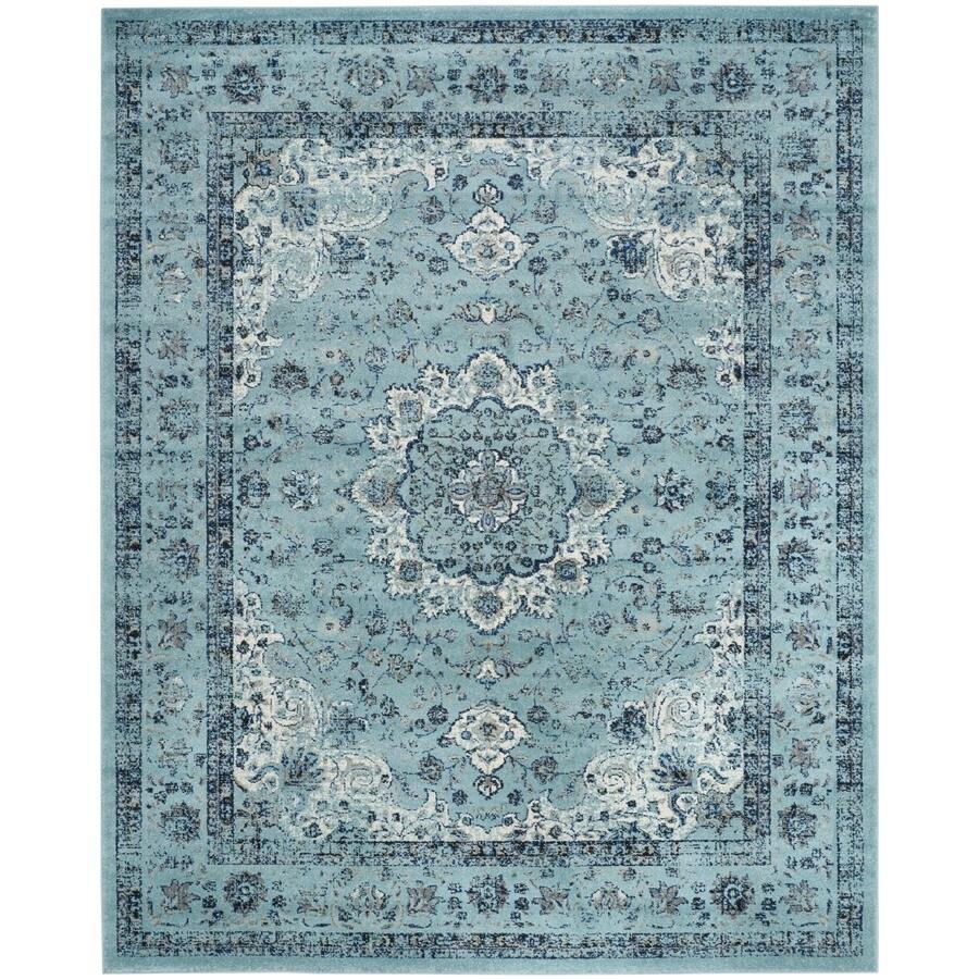 Safavieh Evoke Savoy Light Blue/Light Blue Rectangular Indoor Machine-Made Oriental Area Rug (Common: 11 x 15; Actual: 11-ft W x 15-ft L)