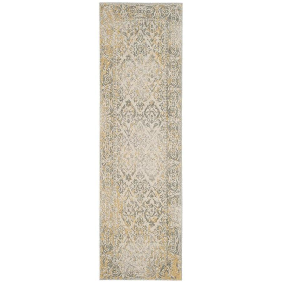 Safavieh Evoke Karki Ivory/Gray Indoor Oriental Runner (Common: 2 x 7; Actual: 2.2-ft W x 7-ft L)