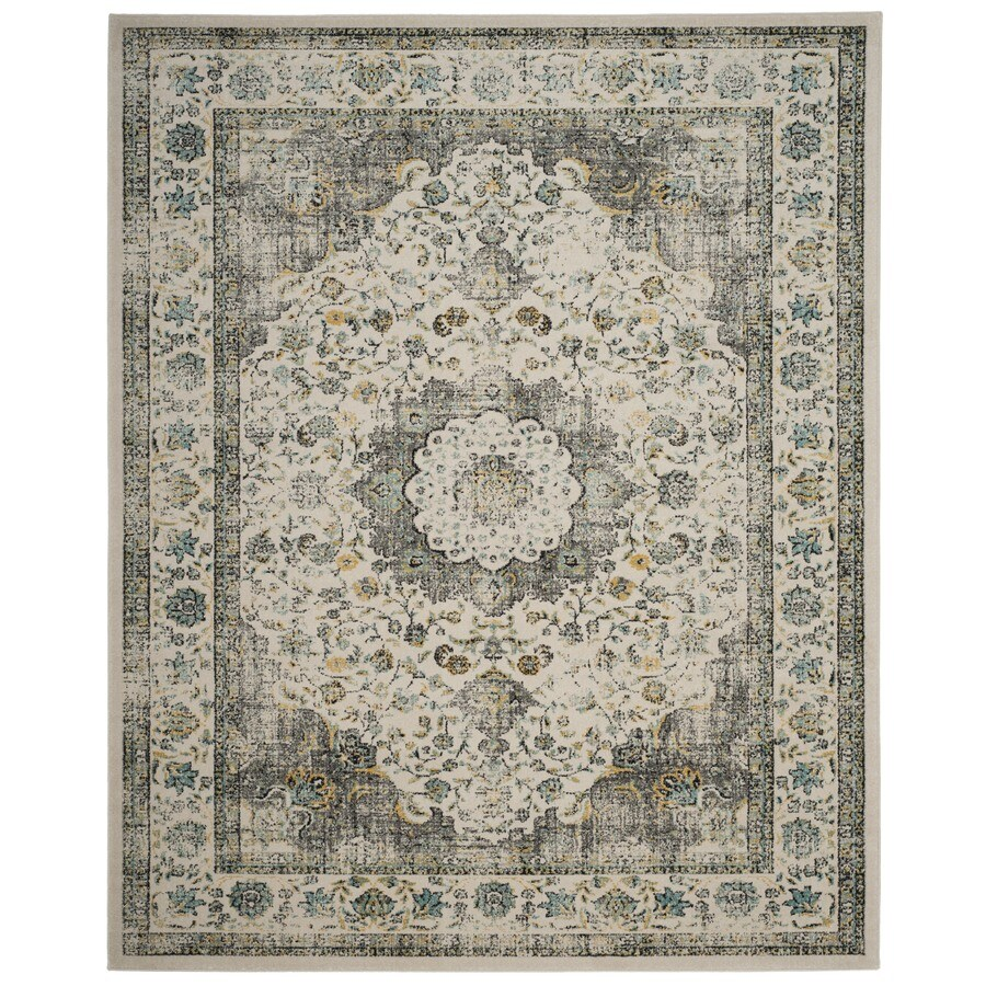Shop Safavieh Evoke Savoy Gray Gold Indoor Oriental Area