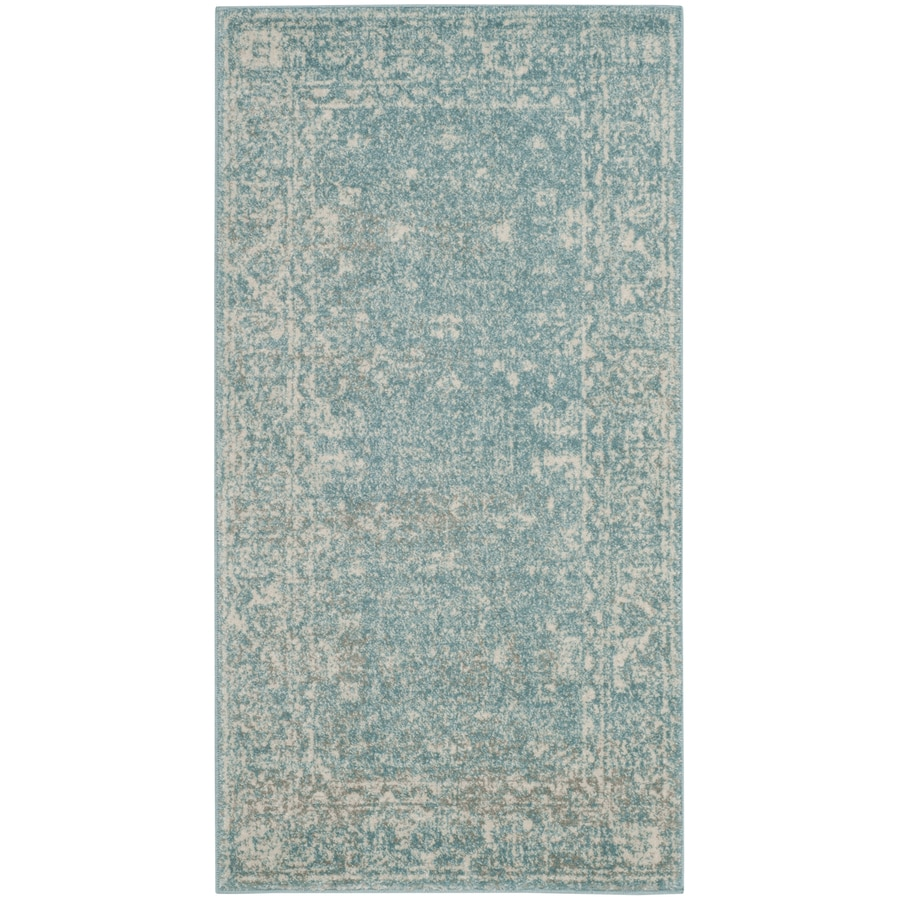 Safavieh Evoke Likoma Light Blue/Ivory Indoor Oriental Throw Rug (Common: 2 x 4; Actual: 2.2-ft W x 4-ft L)
