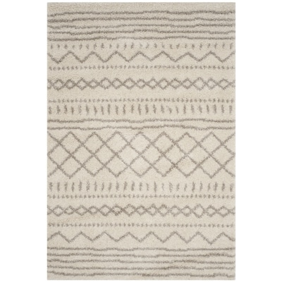 Safavieh Arizona Shag Sedona 8 X 10 Ivory Beige Indoor Abstract Moroccan Area Rug In The Rugs Department At Lowes Com