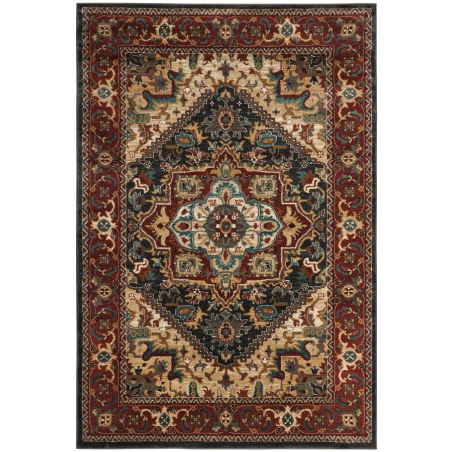 Safavieh Summit Dark Gray/Red Rectangular Indoor Machine-made Lodge Area Rug (Common: 5 X 7; Actual: 5.1-ft W x 7.5-ft L)
