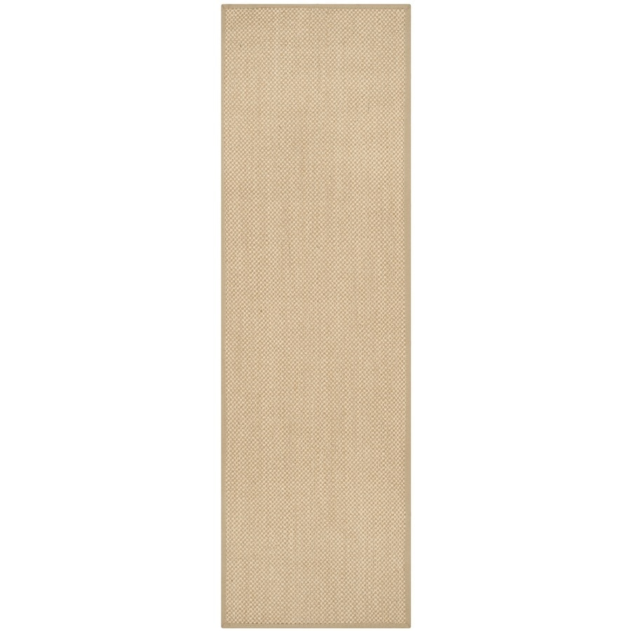 Safavieh Natural Fiber Seaview Maize/Linen Indoor Coastal Runner (Common: 2 x 16; Actual: 2.5-ft W x 16-ft L)