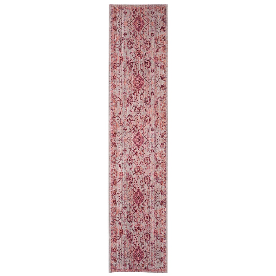 Safavieh Valencia Tabitha Fuchsia Indoor Distressed Runner (Common: 2 x 6; Actual: 2.25-ft W x 6-ft L)