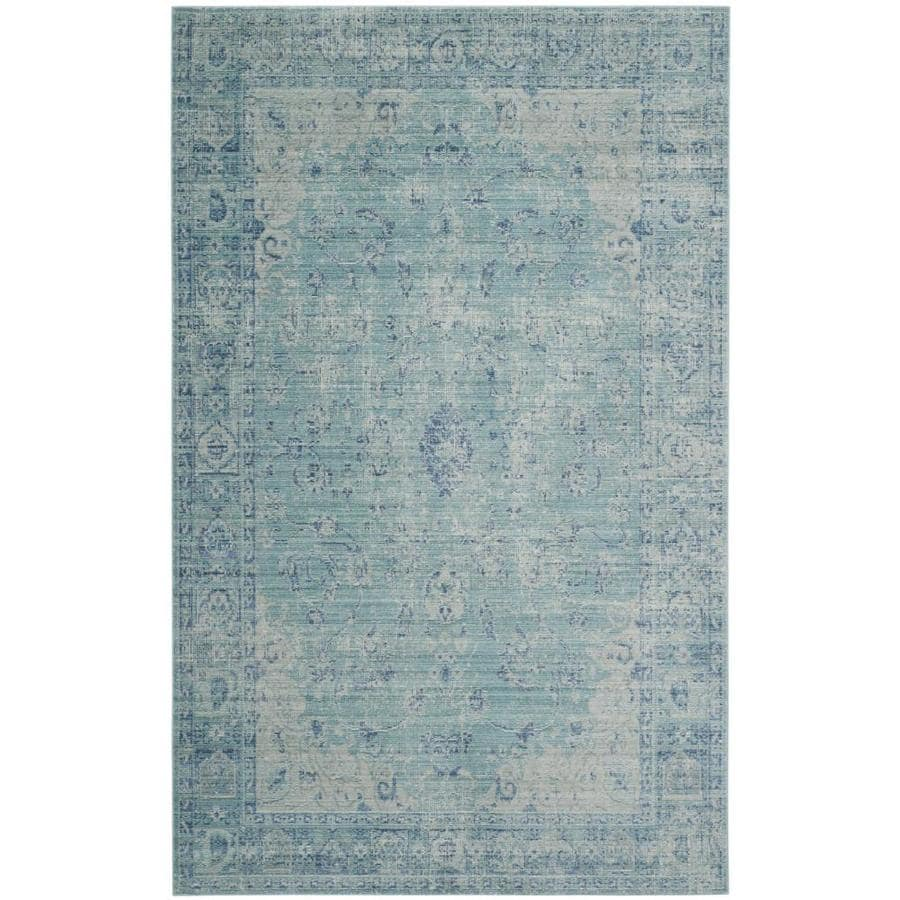 Safavieh Valencia Tabitha Teal Indoor Distressed Area Rug (Common: 6 x 9; Actual: 6-ft W x 9-ft L)