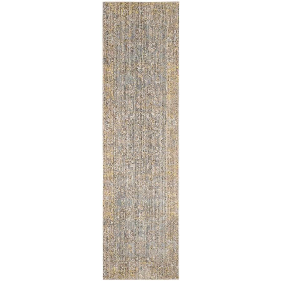 Safavieh Valencia Colom Gray Indoor Distressed Runner (Common: 2 x 10; Actual: 2.25-ft W x 10-ft L)