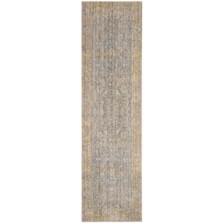 Safavieh Valencia Colom Gray Indoor Distressed Runner (Common: 2 x 6; Actual: 2.25-ft W x 6-ft L)