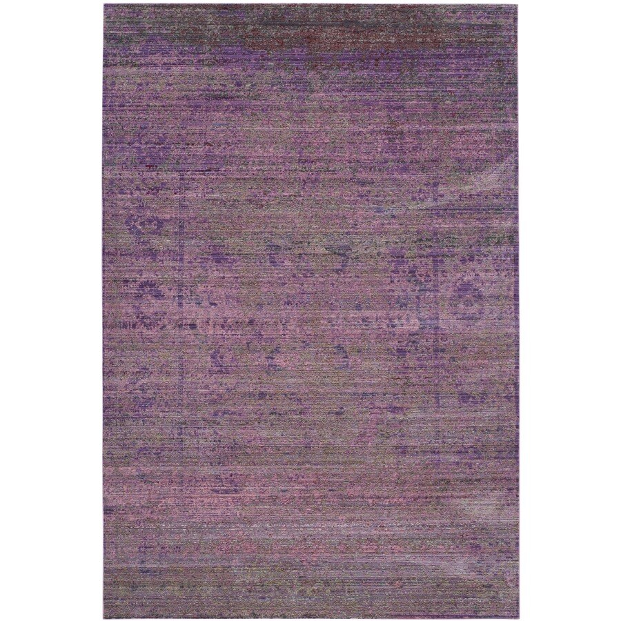Safavieh Valencia Nazarie Lavander Indoor Distressed Area Rug (Common: 6 x 9; Actual: 6-ft W x 9-ft L)