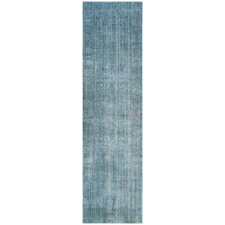 Safavieh Valencia Nazarie Turquoise Rectangular Indoor Machine-Made Distressed Runner (Common: 2 x 10; Actual: 2.25-ft W x 10-ft L)