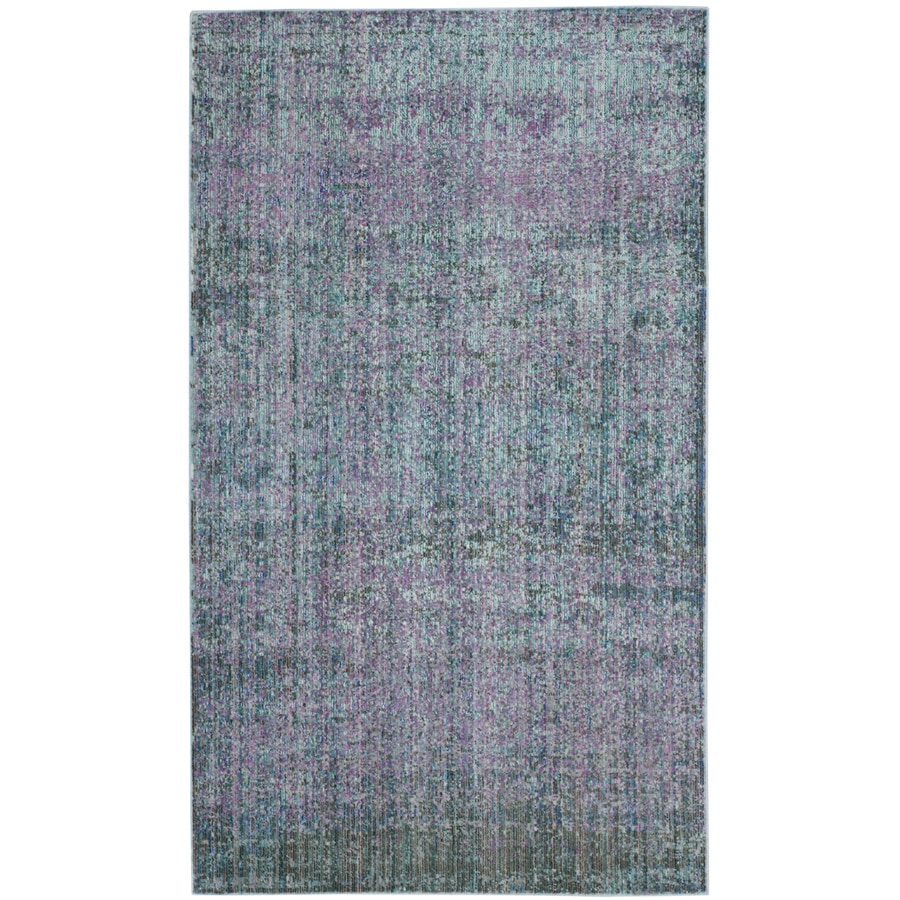 Safavieh Valencia Nazarie Turquoise Indoor Distressed Throw Rug (Common: 3 x 5; Actual: 3-ft W x 5-ft L)