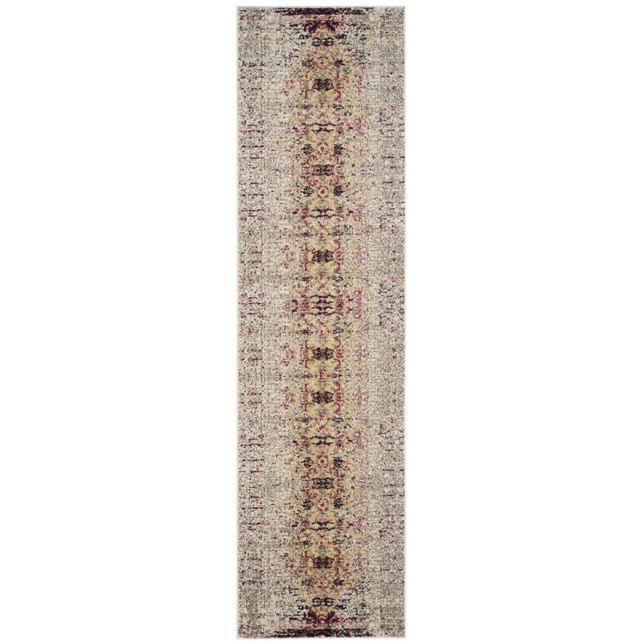 Safavieh Monaco Kimberly Ivory/Pink Indoor Distressed Runner (Common: 2 x 6; Actual: 2.1-ft W x 6-ft L)