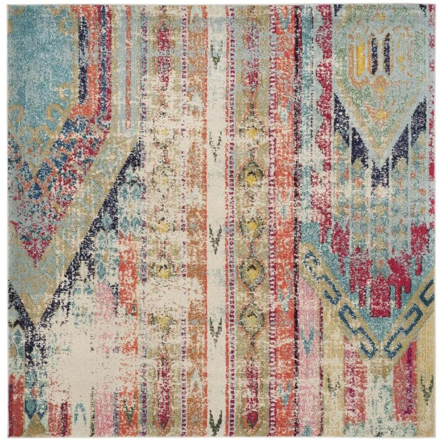 Safavieh Monaco Kolby Square Indoor Distressed Area Rug (Common: 9 x 9; Actual: 9-ft W x 9-ft L)
