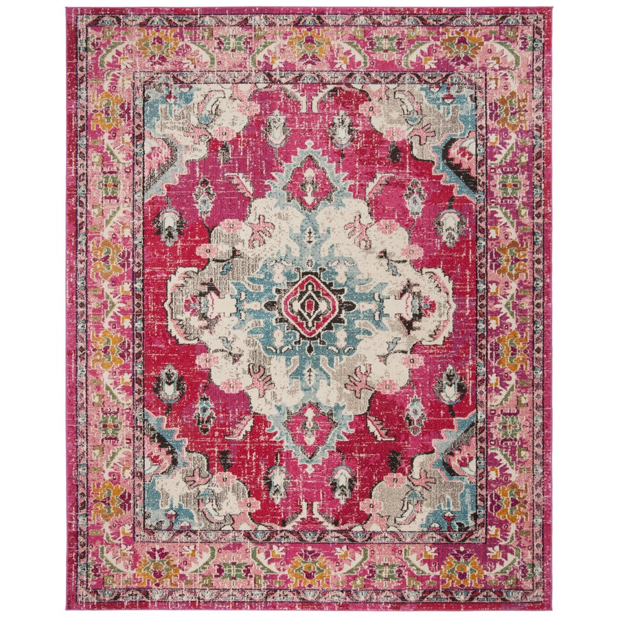 Safavieh Monaco Mahal Pink/Multi Rectangular Indoor Machine-made Oriental Area Rug (Common: 11 x 13; Actual: 11-ft W x 15-ft L)