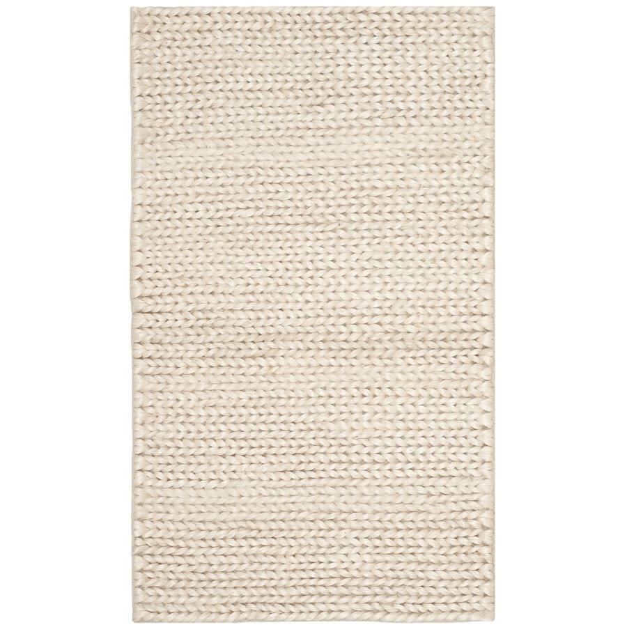 Safavieh Natural Fiber Dominca Ivory Indoor Handcrafted Coastal Throw Rug (Common: 3 x 5; Actual: 3-ft W x 5-ft L)